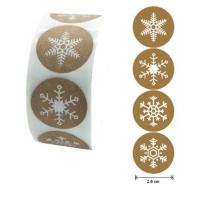 Набор рождественских наклеек. Снежинки