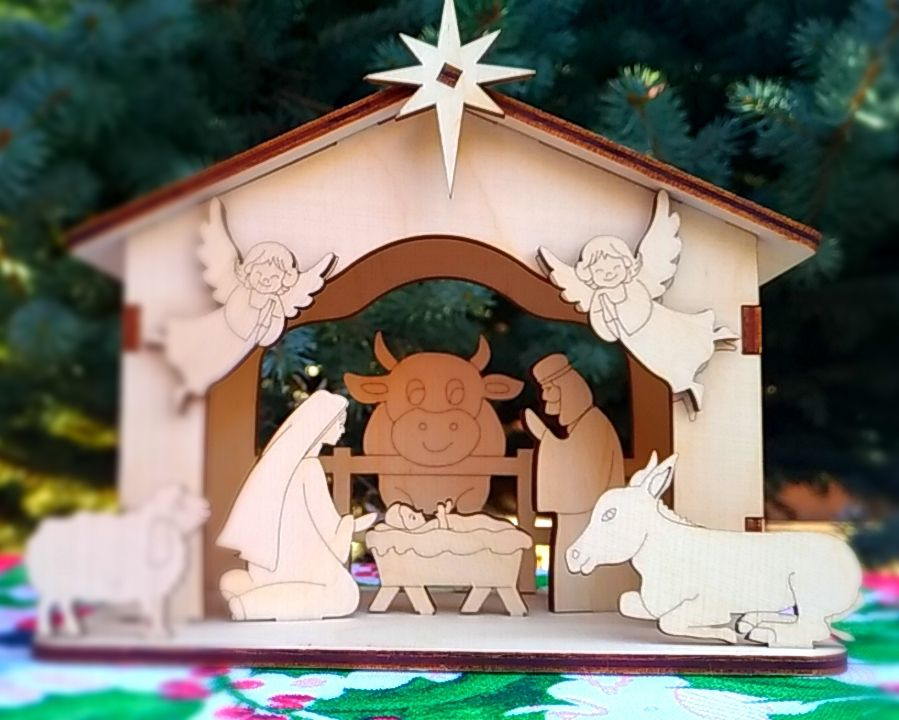 конструктивная открытка рождественский вертеп бодибилдинг должен основываться