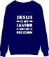 Джемпер. Jesus is my savior Not my religion